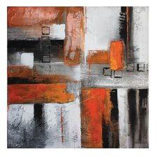 Orange Abstract II Canvas Wall Art