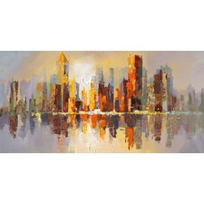 City Life Painting Print on Canvas