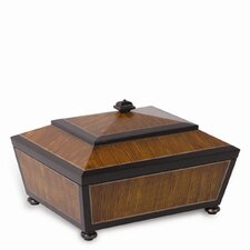Austin Box in Dark Brown and Rattan