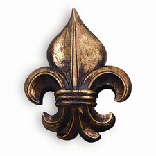 Fleur De Lis Wall Ornament in Antique Gold (Set of 5)