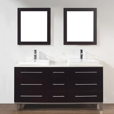 "<strong>Bauhaus Bath</strong> Kinsa 63"" Double Bathroom Vanity Set"