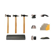 Hammer & Dolly 13Pc Set-Wood Hndls