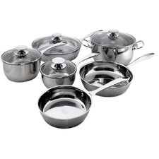 Cucinare Stainless Steel 10-Piece Cookware Set
