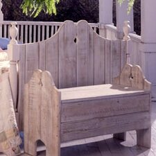 Nantucket Wood Garden Bench