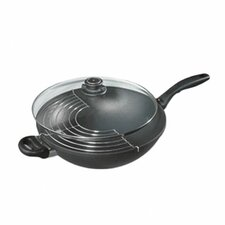"""12.5"""" Wok with Rack and Lid"""