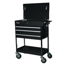 "Professional 34"" Wide 3 Drawer Service Cart"