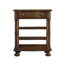 European Farmhouse En Plein Air Bookstand in Distressed Blond