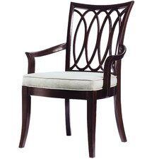 Hudson Street Oval Back Arm Chair (Set of 2)