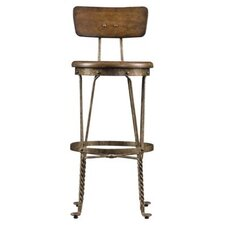 European Farmhouse Artisan's Apprentice Barstool in Distressed Blond