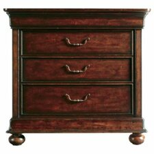 The Classic Portfolio Louis Philippe 3 Drawer Nightstand