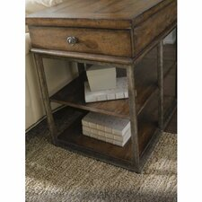 European Farmhouse Art Industrial Companion End Table