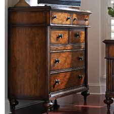 The Classic Portfolio British Colonial 5 Drawer Media Chest