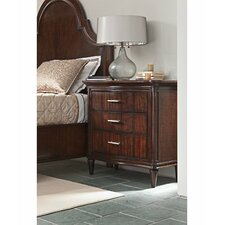 Avalon Heights Swingtime Serpentine 3 Drawer Nightstand