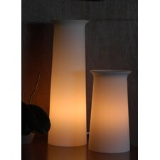 "Flare Tower 12"" H Table Lamp with Drum Shade"