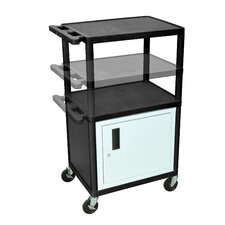LP Series AV Cart with Cabinet/Electric