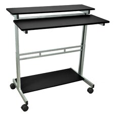"39"" Standing Desk with Casters"