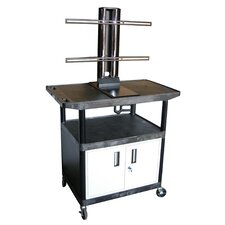 "Mobile Plasma / LCD Stand with Cabinet (40"" High)"