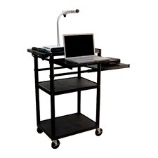 <strong>Luxor</strong> Plastic Presentation Station in Black with Laptop Shelf