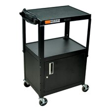 <strong>Luxor</strong> Adjustable Height Cabinet Table with Casters