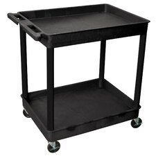 "<strong>Luxor</strong> 38"" 2 Tub Shelf Utility Cart"