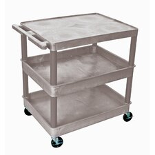 "<strong>Luxor</strong> 37"" 3 Shelf Utility Cart"