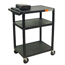 "<strong>Luxor</strong> 34"" High AV Cart in Black"