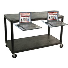 Two Shelf Extra Wide Computer Workstation: Designed for Early Childhood Applications