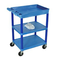 <strong>Luxor</strong> Three Shelf Utility Cart