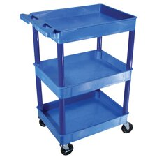 <strong>Luxor</strong> Three Shelf Tub Cart