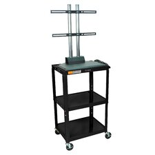 Adjustable Height Flat Panel Cart
