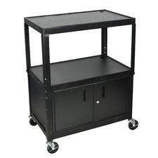 <strong>Luxor</strong> Extra Wide AV Cart with Cabinet