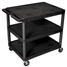 "<strong>Luxor</strong> 33.5"" 3 Shelf Heavy Duty Cart"