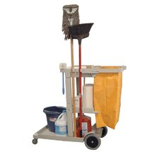 "38"" Janitorial Cleaning Service Cart"