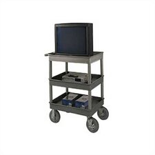 "<strong>Luxor</strong> 45"" 4 Tub Shelf Utility Cart"