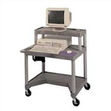 "27"" High Workstation with Leg Room Cut-Out and Monitor Platform"