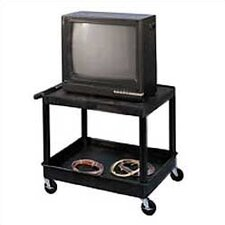 Open Shelf TV Cart with Lower Tray