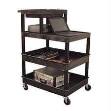Stand-Up Tool/Utility Cart with Extra Tub Shelf