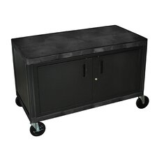 Industrial Storage Cart with Cabinet