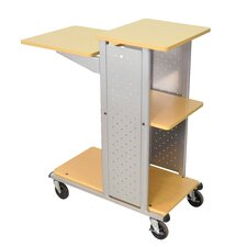 Mobile Presentation Station with Casters