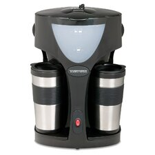 Twin Coffee Maker with 2 Travel Mugs