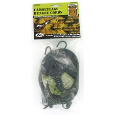 6 Count Assorted Sizes Camouflage Bungee Cords CFESPK6
