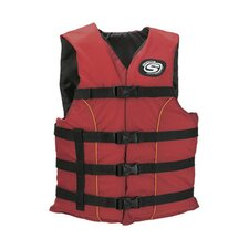 PFD 5311 Universal Classic Adult Ski Nylon Life Vest in Red