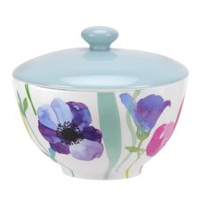 Water Garden 10 oz. Covered Sugar Bowl with Lid