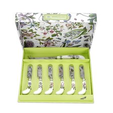 Botanic Garden Cheese Knife and 6 Spreaders