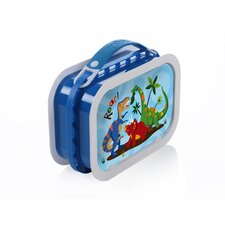 Deluxe Lunchbox with Dinosaurs Design in Blue