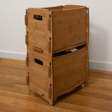 Sustainable Bamboo Letter File Cart