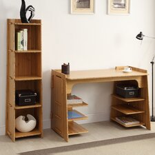 Sustainable Bamboo Standard Desk Office Suite