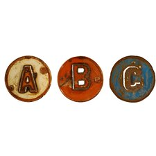 <strong>Groovystuff</strong> Chris Bruning Art ABC Signs 3 Piece Wall Décor Set