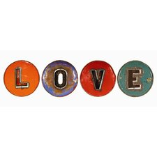 "4 Piece Moonshine ""LOVE"" Letters Wall Décor Set"