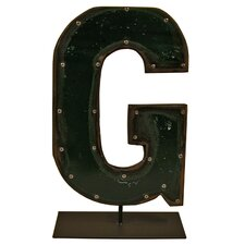 Moonshine Metal Letters G on a Stand Letter Block